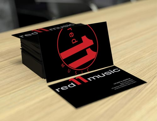 Red 11 Business Cards