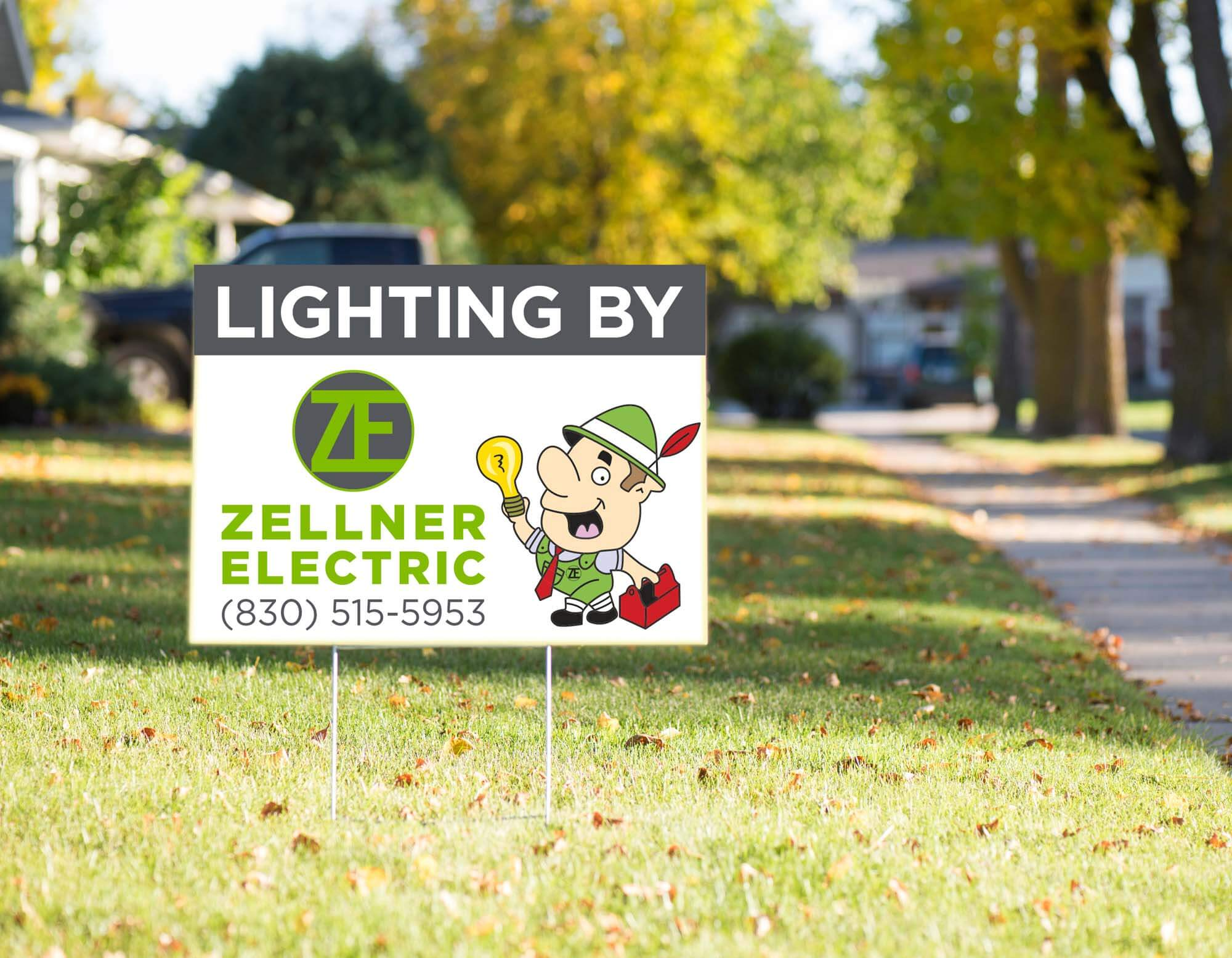 Zellner Electric Yard Sign