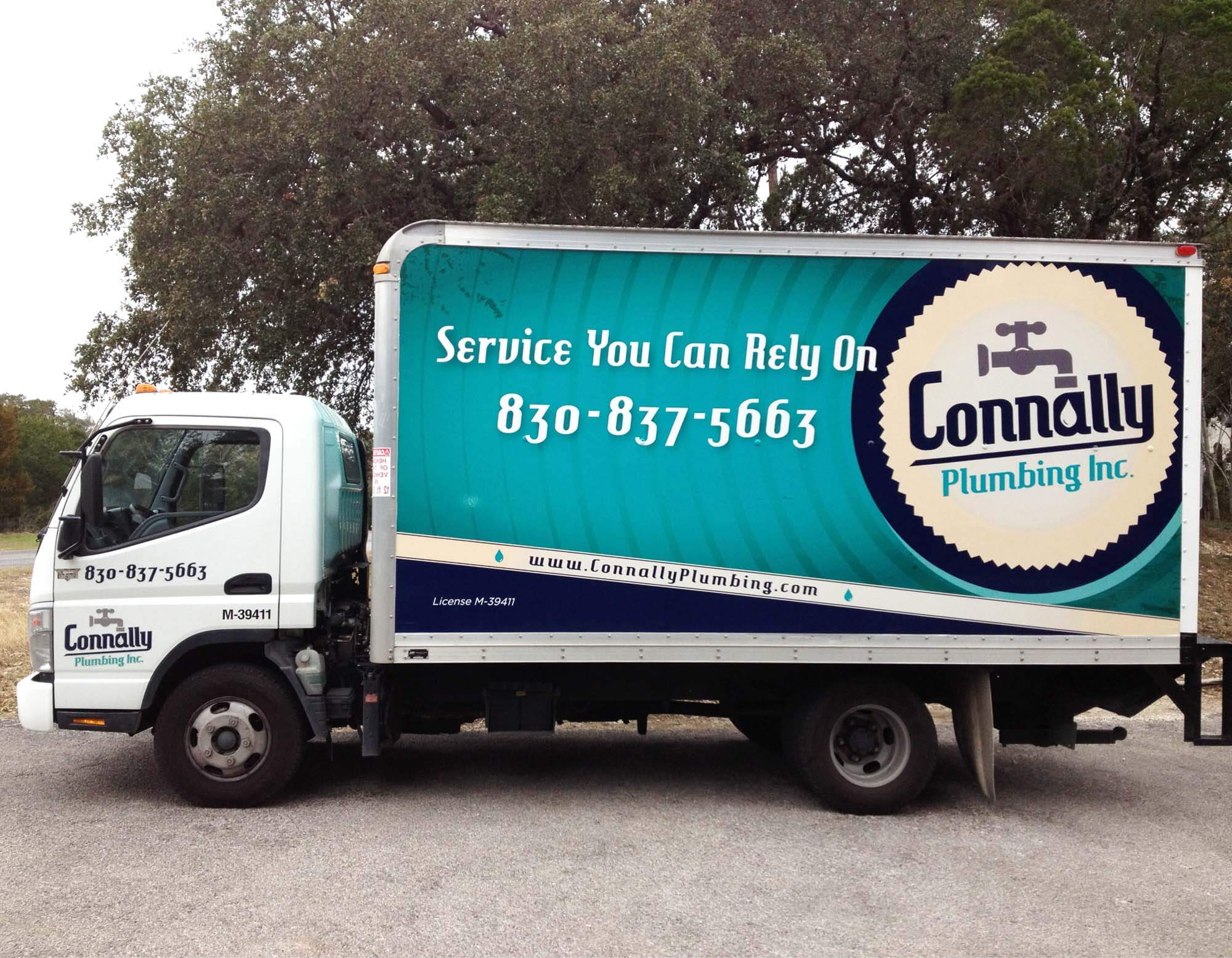 Connally Plumbing Vehicle Wrap